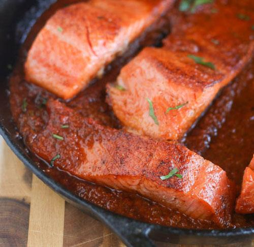 Món cá hồi sốt cà chua siêu ngon cho cả gia đình