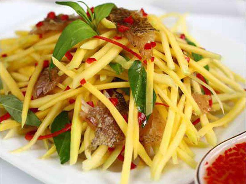 cá khô ăn với rau gì?